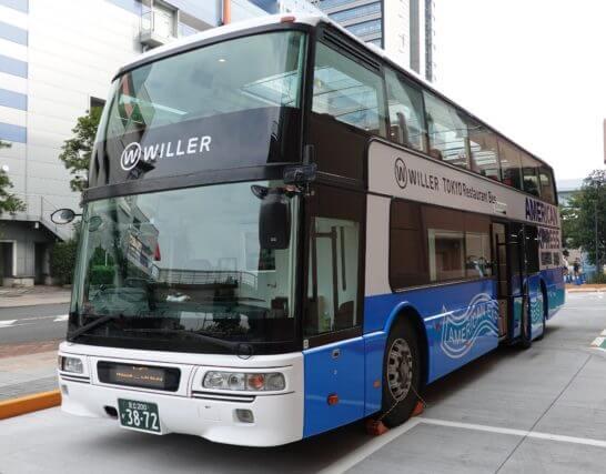 アクアシティお台場に駐車する東京レストランバス