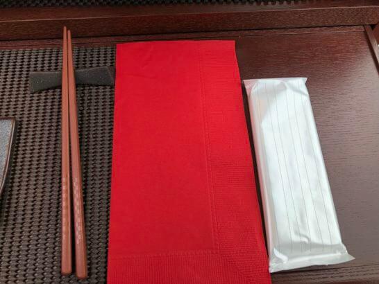 東京レストランバスのはし・ナプキン・おしぼり