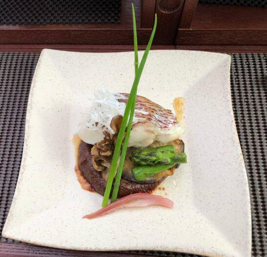 東京レストランバスの和モダンランチ(焼物)