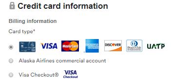 アラスカ航空で購入できるクレジットカード