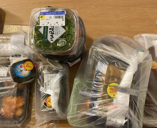 東武百貨店で購入した食品類
