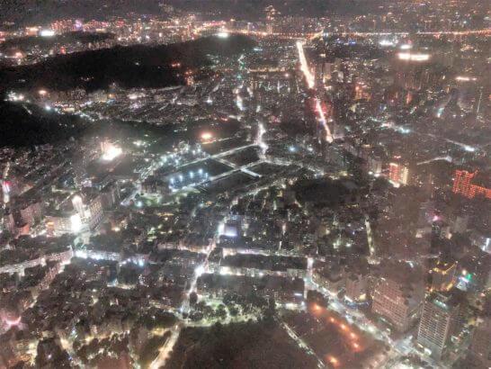 台湾101からの夜景