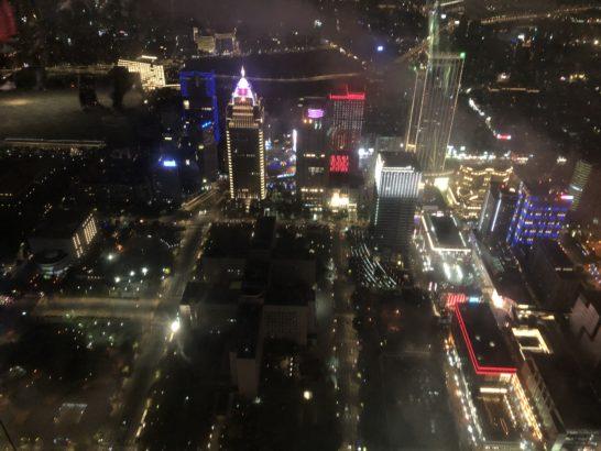 台湾101からの夜景(Wホテル台北)