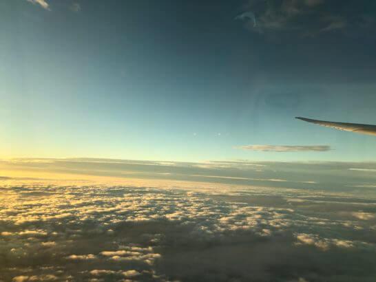 ANAの機上の窓からの景色