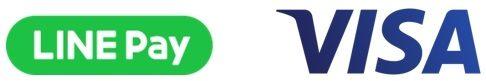 LINE PayとVisaのロゴ