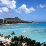 ハワイのワイキキビーチとダイヤモンドヘッド