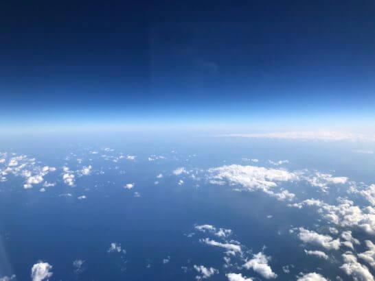 JALの機中からの青空