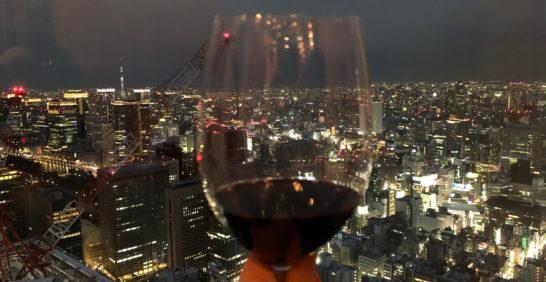 ラグジュアリーソーシャルアワーでの赤ワイン