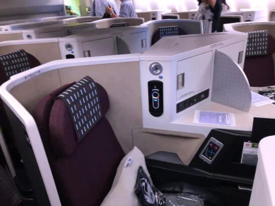 JAL国際線ビジネスクラスの座席