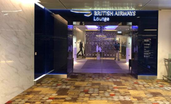 ブリティッシュ・エアウェイズ シンガポールラウンジの入り口