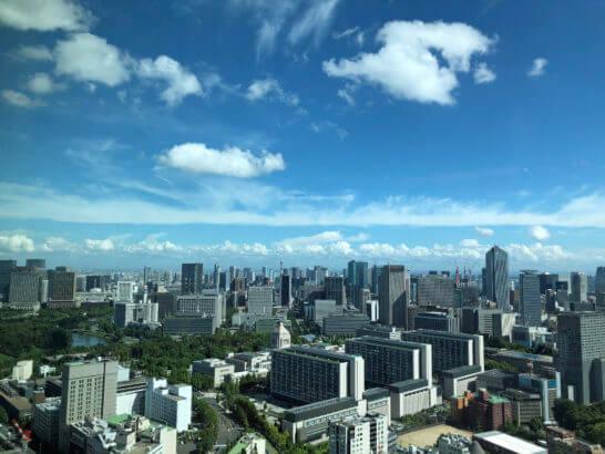 ザ・プリンスギャラリー 東京紀尾井町のロビーからの眺め