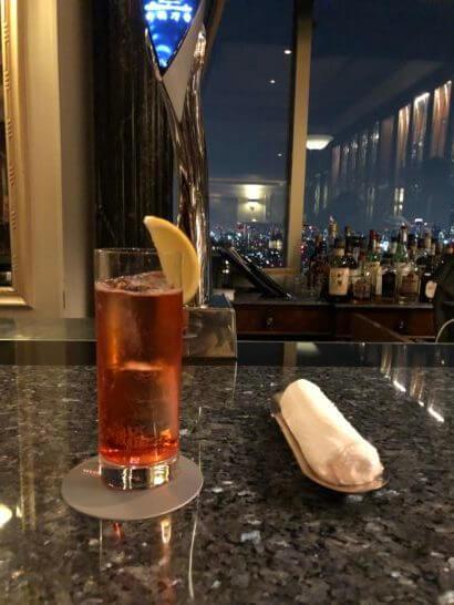 ウェスティンホテル東京のコンパスローズのカンパリソーダ