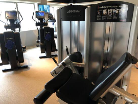 ウェスティンホテル東京のフィットネススタジオのマシン