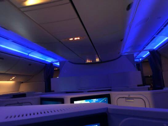 JALのビジネスクラス(深夜発の便)