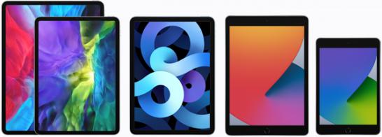 iPad Pro、iPad Air、iPad、iPad mini