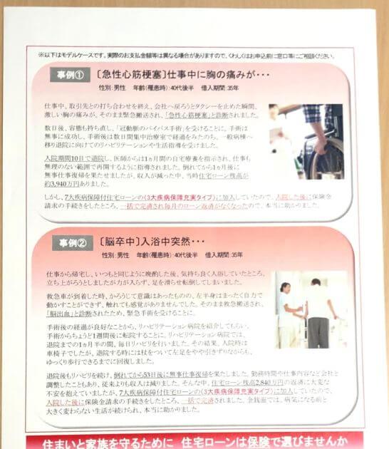 三菱UFJ銀行の7大疾病保障付住宅ローン ビッグ&セブン Plusの事例