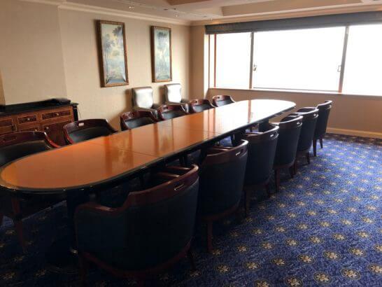 ウェスティンホテル東京のクラブラウンジのミーティングルーム