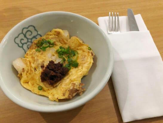 カンタス航空シンガポールラウンジの卵料理