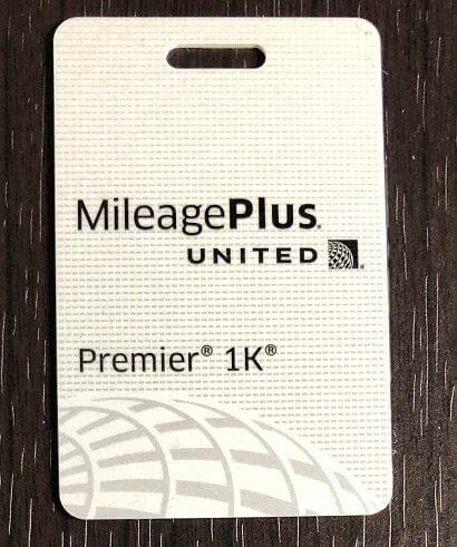 ユナイテッド航空のマイレージプラス Premier 1Kのタグ