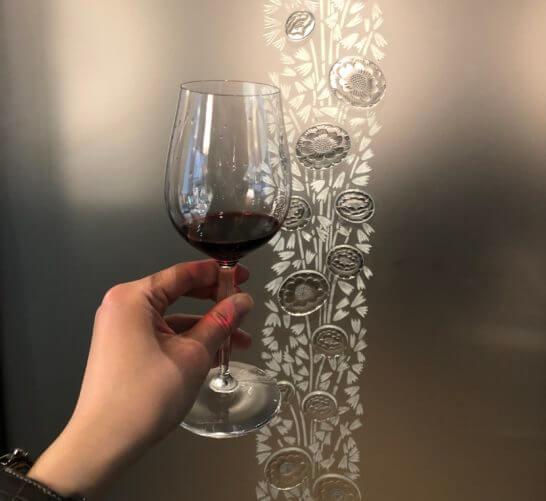 ラリック銀座店で飲む赤ワイン