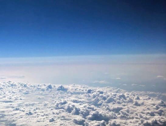 JALの機中からの眺め