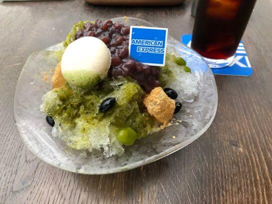 アメックスの銀座カフェのかき氷
