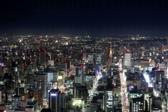 名古屋 栄の夜景