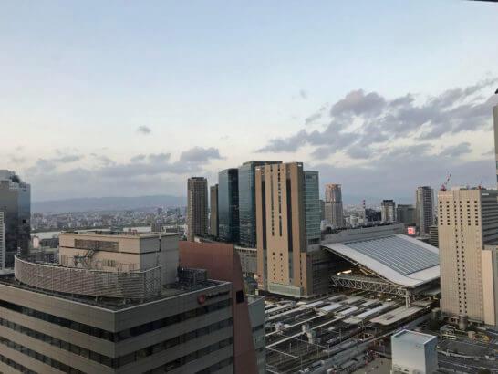 大阪駅周辺の景色(ザ・リッツ・カールトン大阪からの眺望)