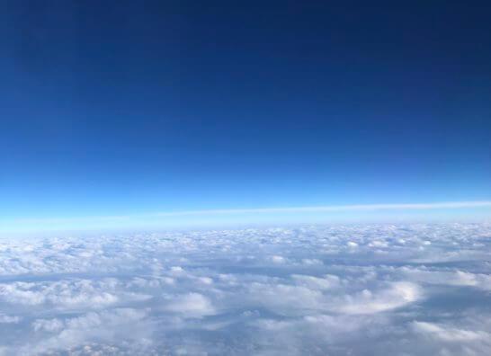 チャイナエアラインの機中からの眺め