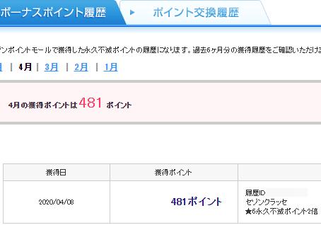 セゾンクラッセ★6永久不滅ポイント2倍の明細