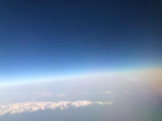 デルタ航空の機内からの景色
