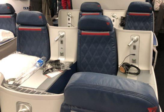 デルタ航空のビジネスクラスのシート