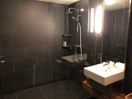JAL国内線サクララウンジの最も広いシャワールーム(5番)