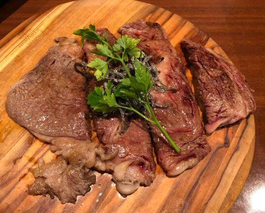 関空のぼてぢゅうの国産牛リブロースステーキ