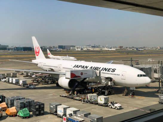 羽田空港ダイヤモンドプレミアラウンジからの眺め