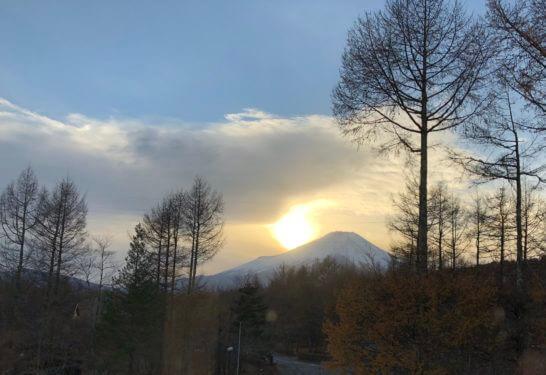 富士マリオットホテルから見えた富士山