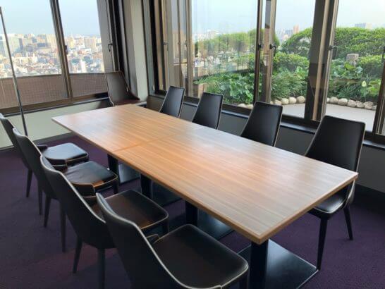 東京マリオットホテルのエグゼクティブラウンジのミーティングルーム