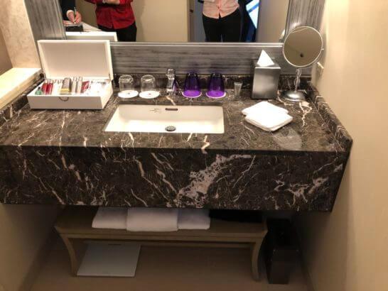 東京マリオットホテルの洗面台