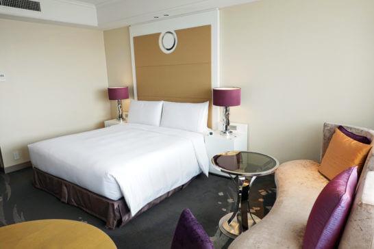 東京マリオットホテルの客室(スーペリアキング)