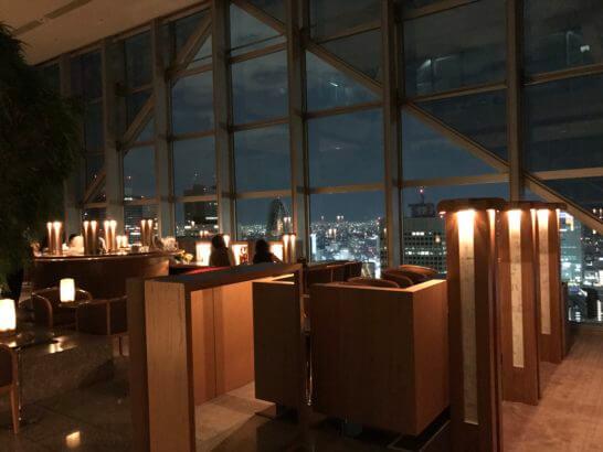 パークハイアット東京の夜のピークバー