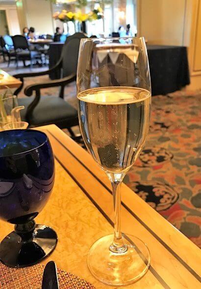 椿山荘のイル・テアトロのスパークリングワイン