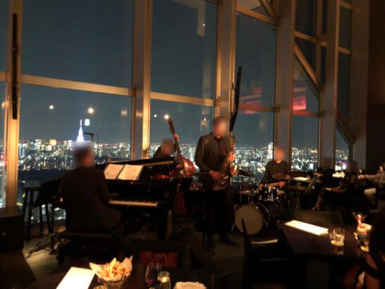 パークハイアット東京のニューヨーク・グリル バーでの生演奏