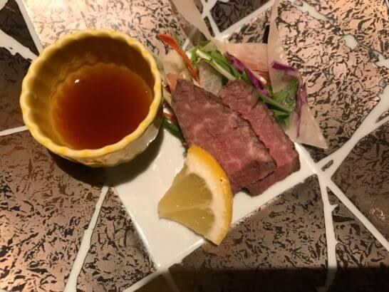 椿山荘の日本料理みゆきの肉料理