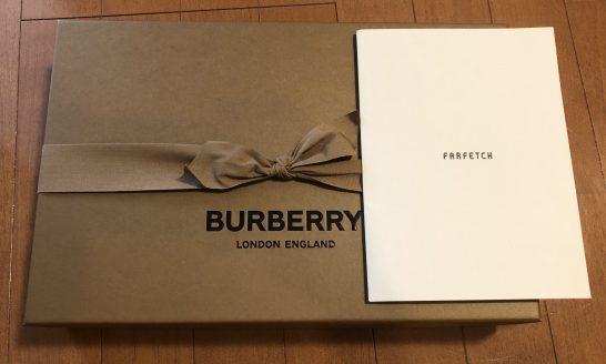 Farfetchで買ったバーバリーの箱