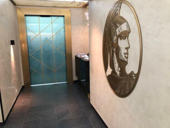 香港センチュリオンラウンジのセンチュリオンカード専用エリアへの入り口