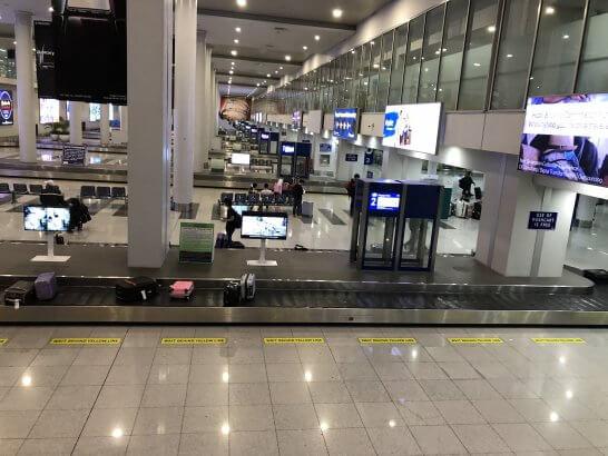 マニラ空港の手荷物受取所
