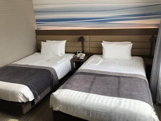 羽田エクセルホテル東急のツインベッド