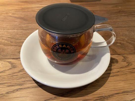 ストリーマーコーヒーのラグジュアリーティー (カップ付き)