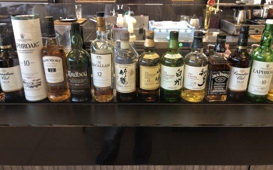 イセタン羽田ストアのカフェのウイスキー