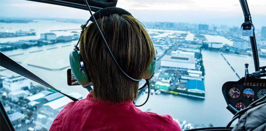 ヘリコプター搭乗のイメージ